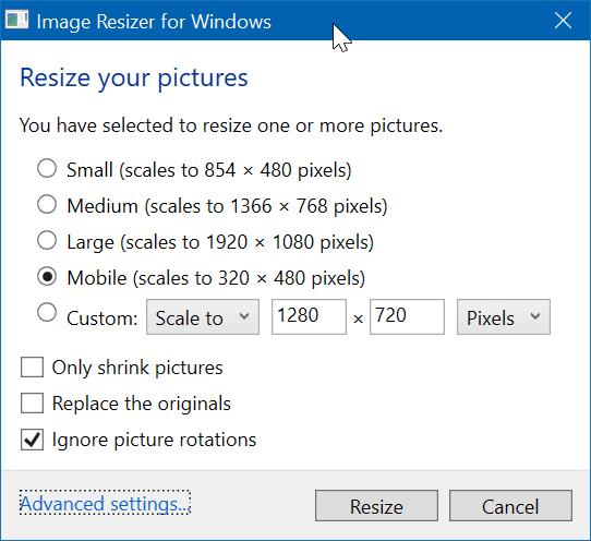 cambiar el tamaño de las imágenes desde el menú contextual en Windows 10 pic2