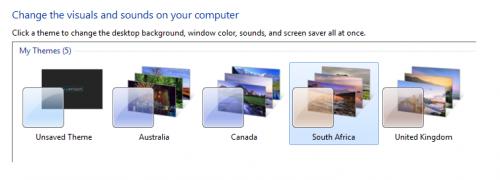 Temas regionales de Windows 7