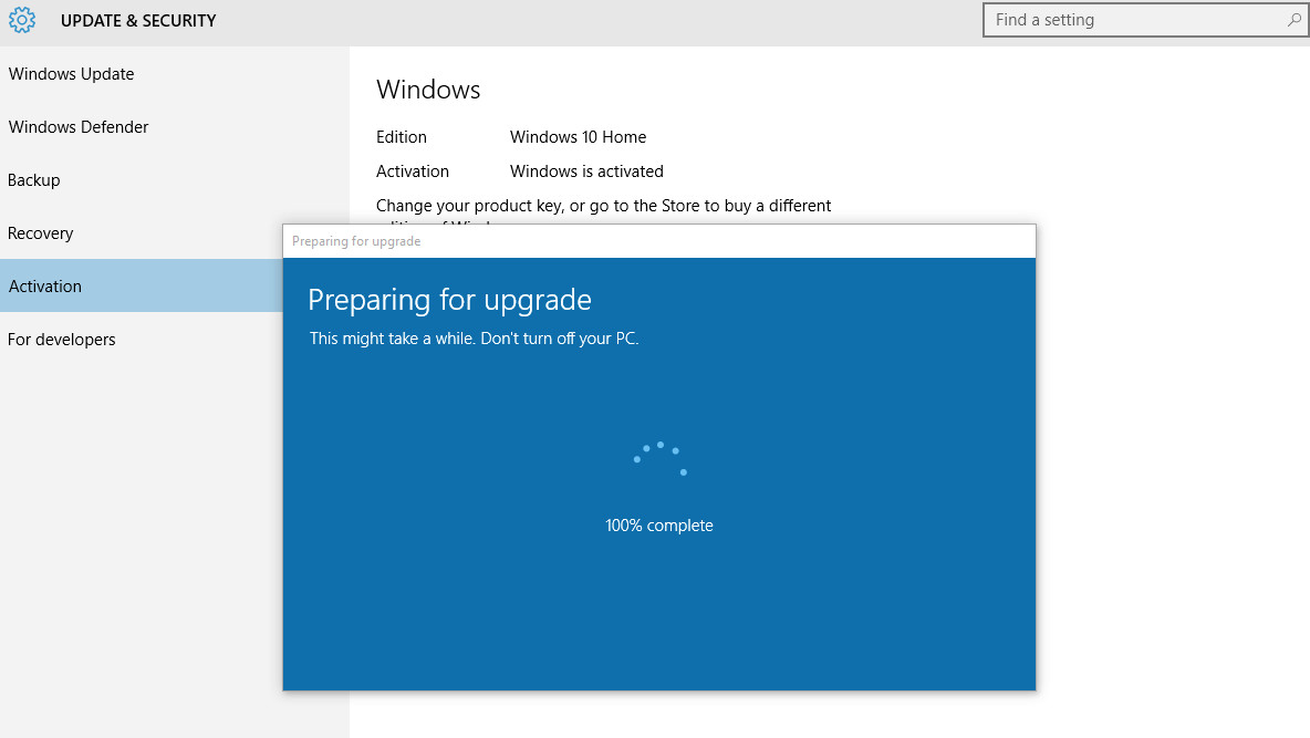 Actualice Windows 10 Home a Windows 10 Pro