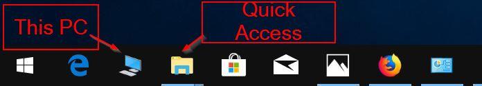 agregue esta PC a la barra de tareas de Windows 10